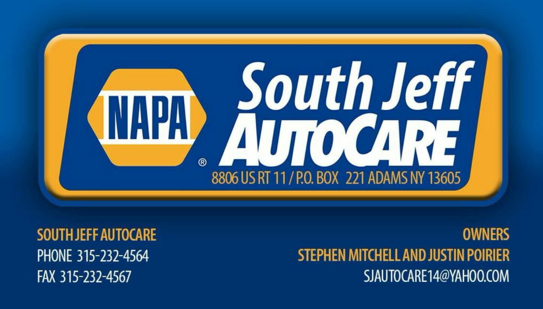south jeff auto care logo with napa
